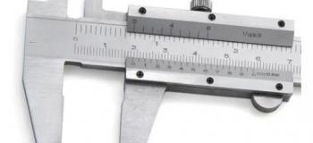 Calibração de paquimetro